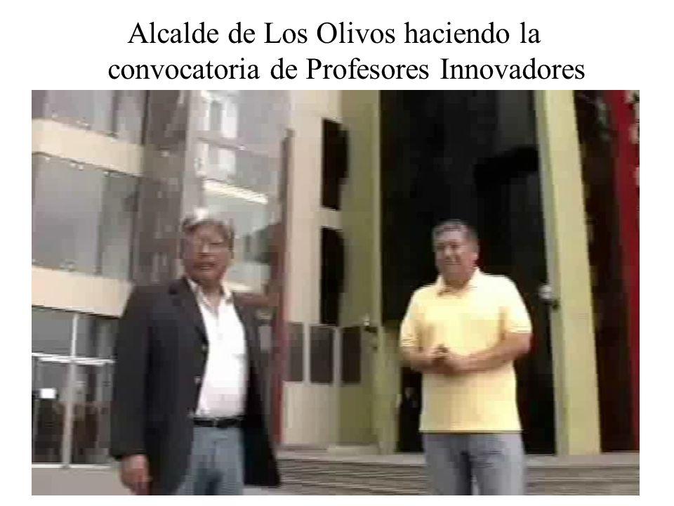 Alcalde de Los Olivos haciendo la convocatoria de Profesores Innovadores