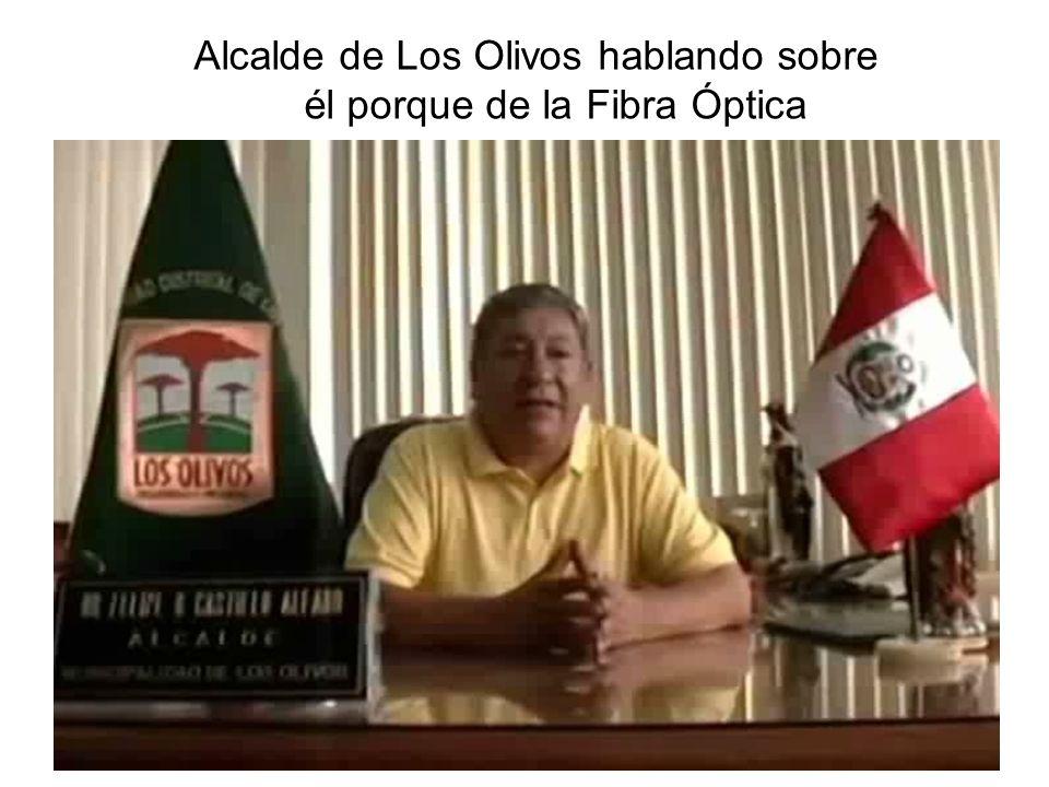 Alcalde de Los Olivos hablando sobre él porque de la Fibra Óptica