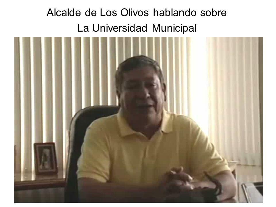 Alcalde de Los Olivos hablando sobre La Universidad Municipal