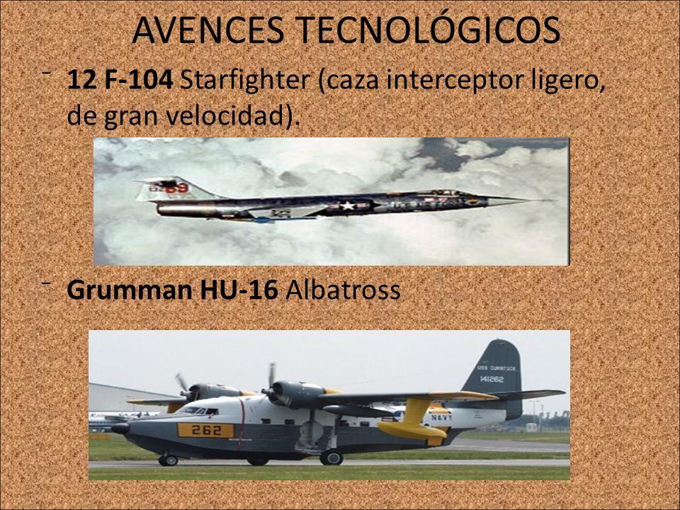 AVENCES TECNOLÓGICOS 12 F-104 Starfighter (caza interceptor ligero, de gran velocidad). Grumman HU-16 Albatross