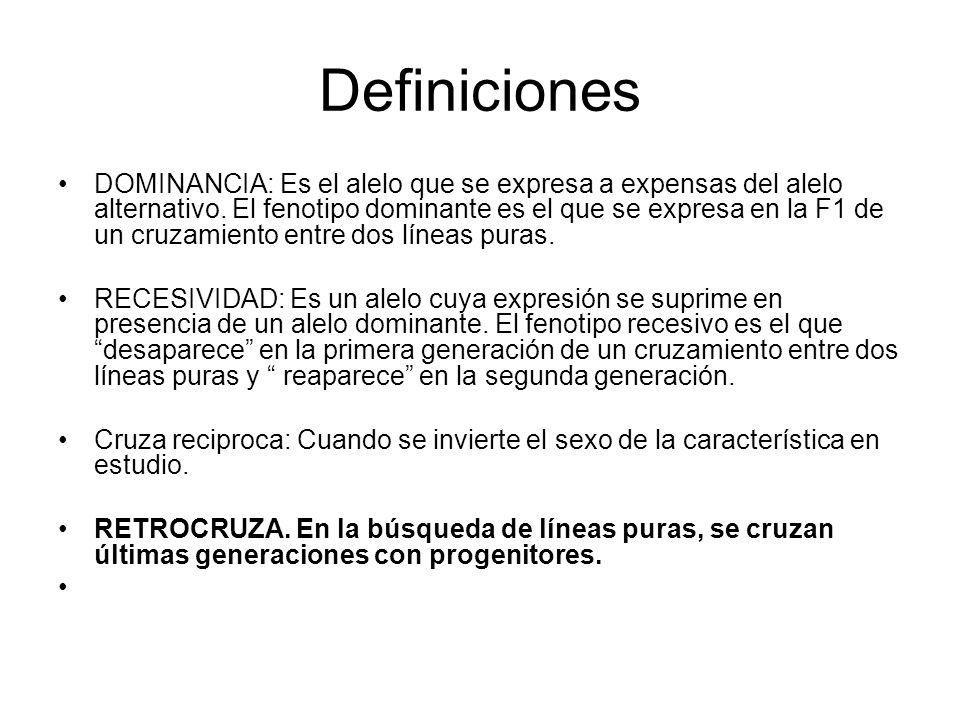 DEFINICIONES LOCUS. Lugar que los genes ocupan en los cromosomas ALELO: Forma alternativa del gene FENOTIPO: Apariencia física de la expresión del gen