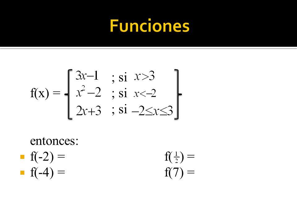 Solución: a) Buscamos el conjunto de todos los números reales x para los cuales es un número real.