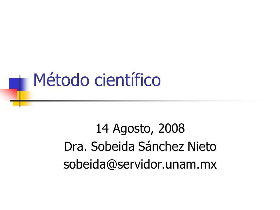 Método científico Método de estudio sistemático de la naturaleza que incluye las técnicas de observación, reglas para el razonamiento y la predicción, ideas sobre la experimentación planificada y los modos de comunicar los resultados experimentales y teóricos.