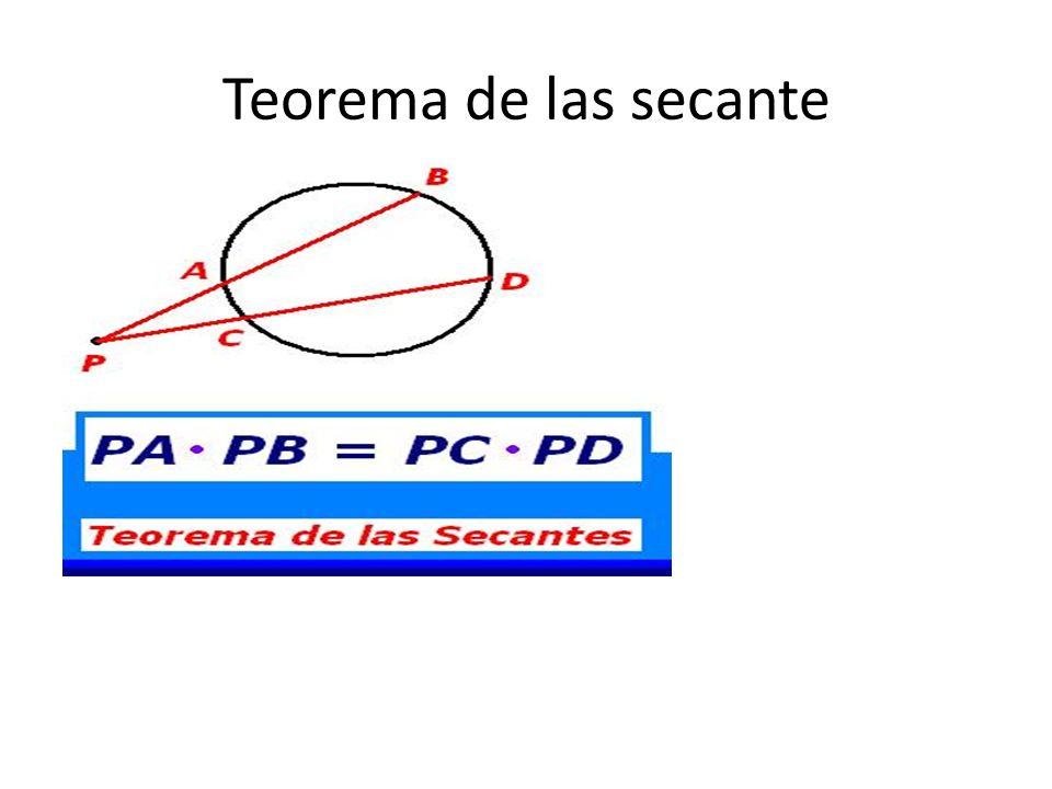 Teorema de la tangente secante