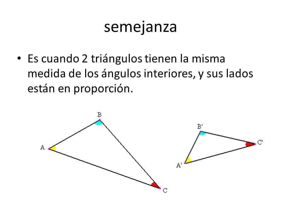 Congruencia Es cuando 2 triángulos según cierto criterios son iguales entre si.