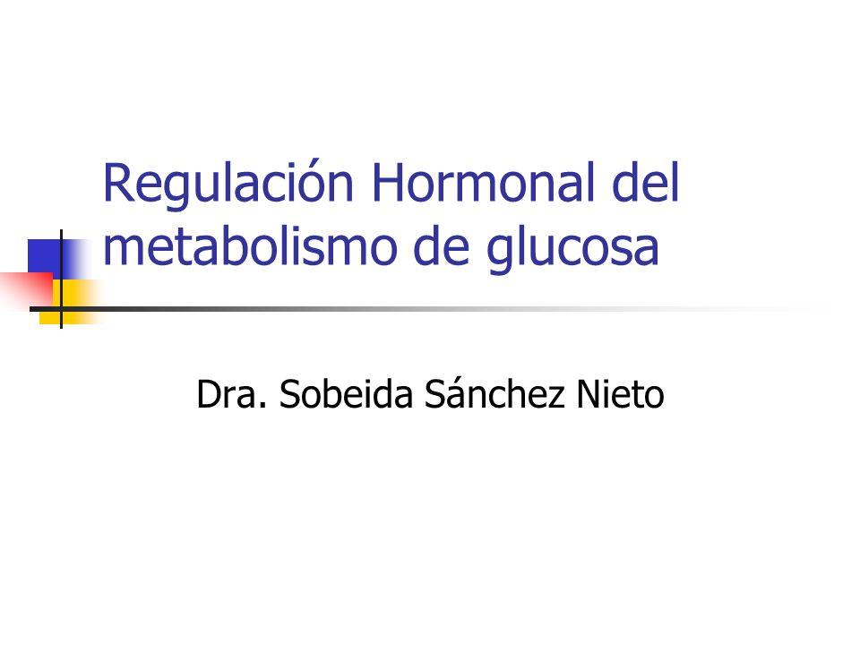 Regulación Hormonal del metabolismo de glucosa Dra. Sobeida Sánchez Nieto