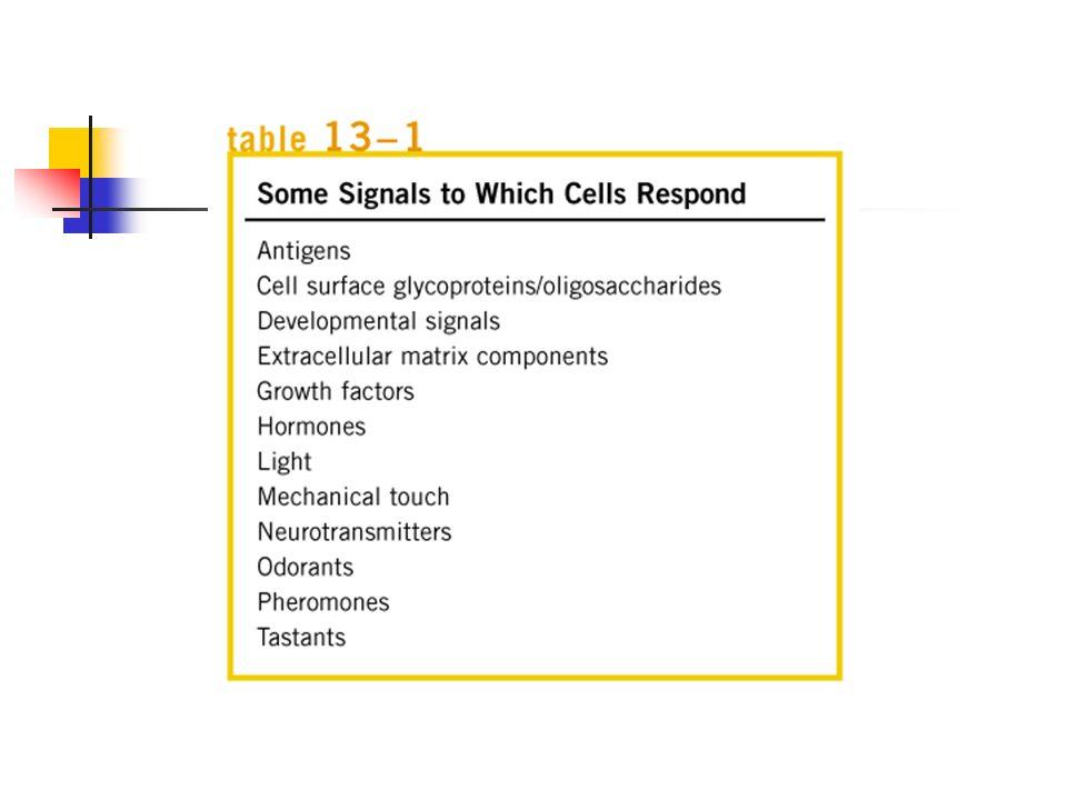 Receptores y señales de transducción La habilidad para responder al ambiente y controlar la entra y salida a través de la membrana es una de las características de cualquier célula.