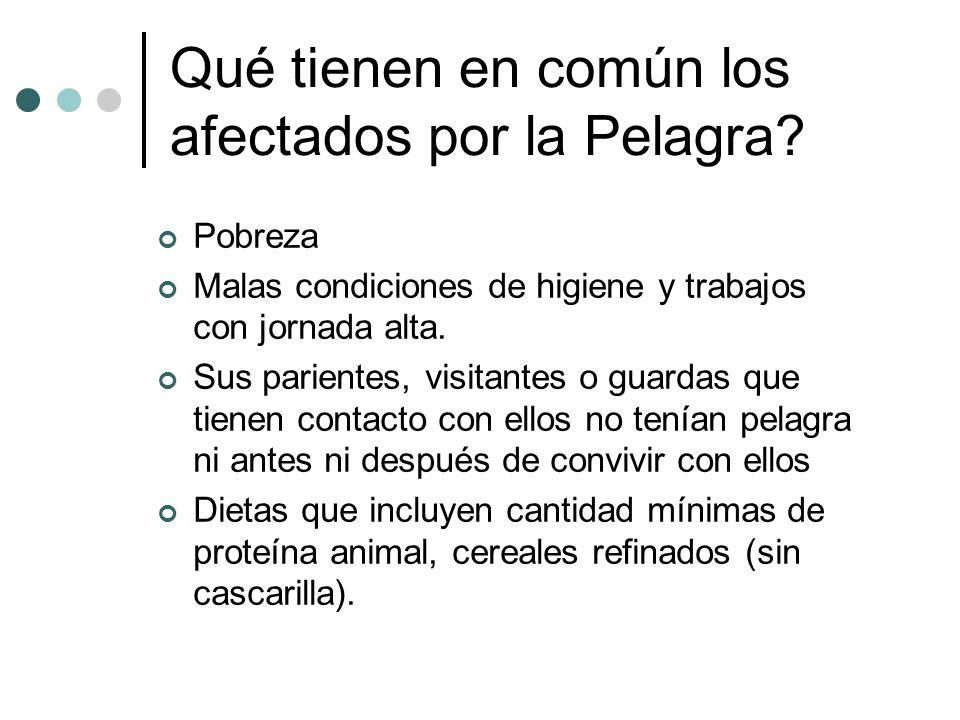 Qué tienen en común los afectados por la Pelagra.