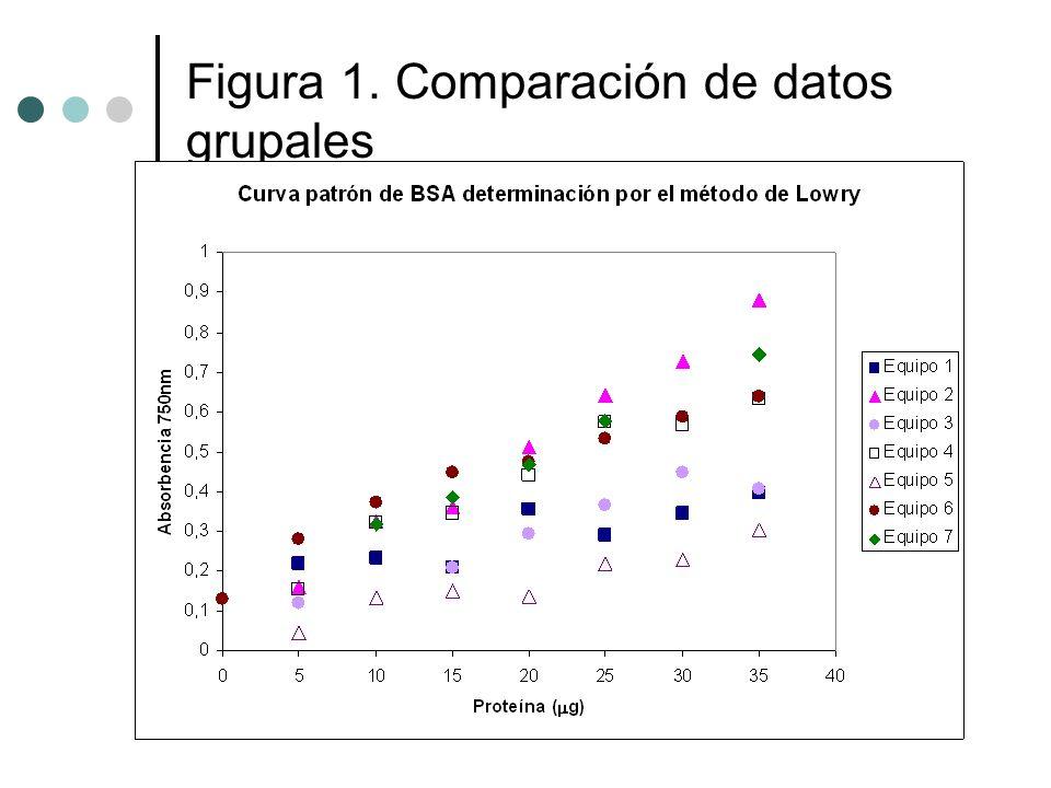 Figura 1. Comparación de datos grupales