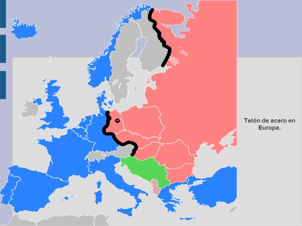 Telón de acero en Europa.