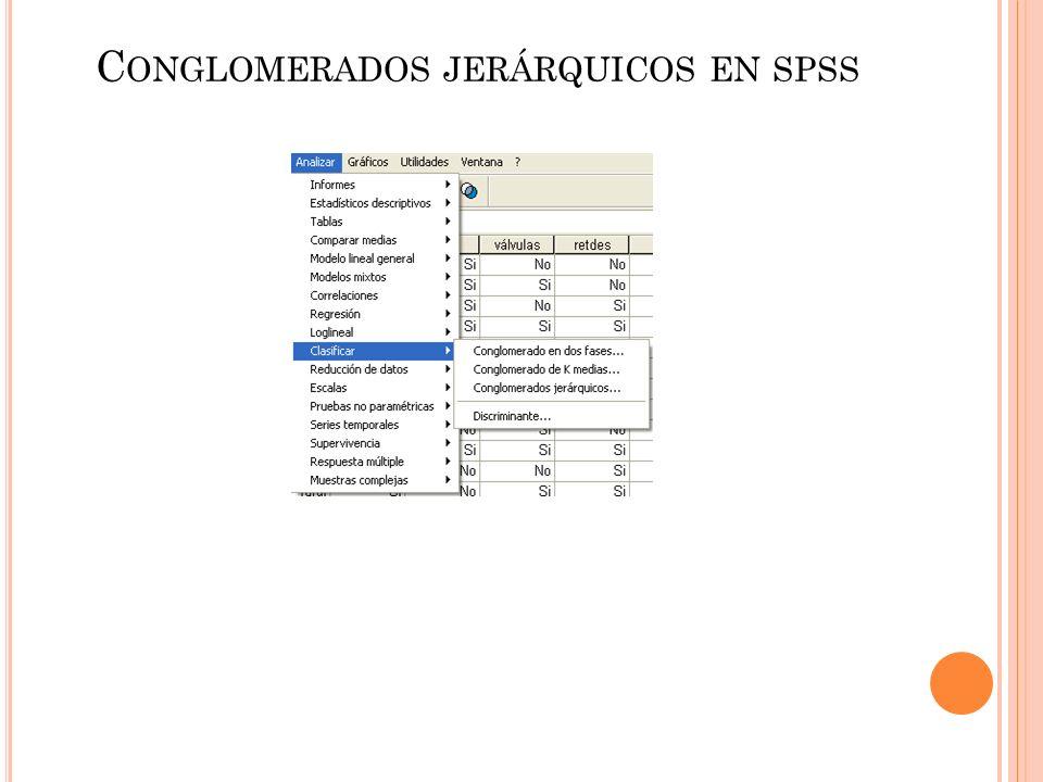 C ONGLOMERADOS JERÁRQUICOS EN SPSS