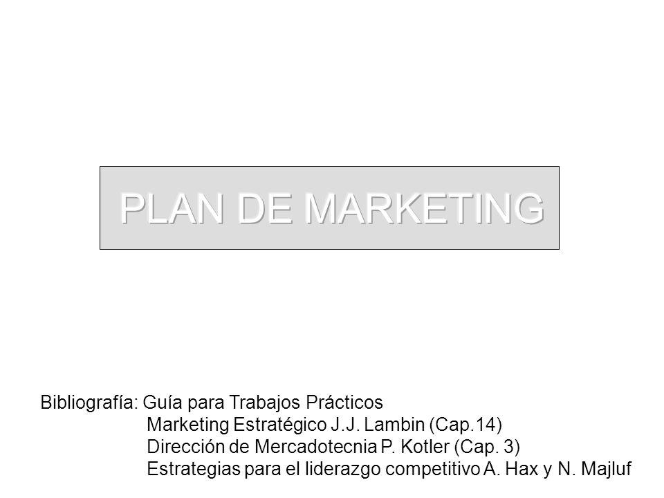 Bibliografía: Guía para Trabajos Prácticos Marketing Estratégico J.J. Lambin (Cap.14) Dirección de Mercadotecnia P. Kotler (Cap. 3) Estrategias para e