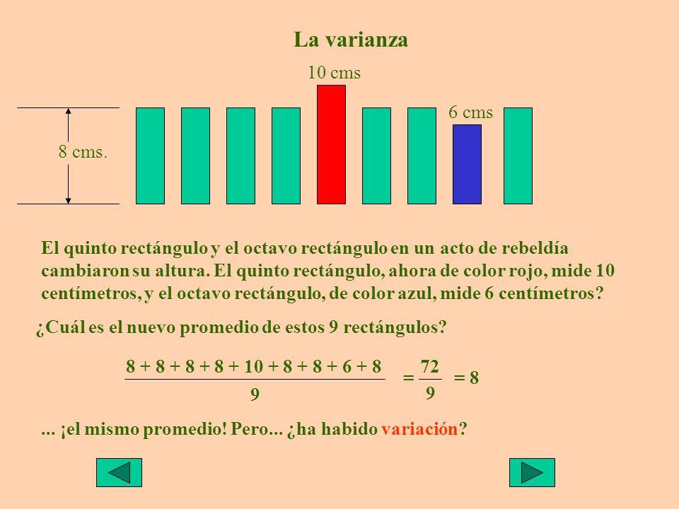 El quinto rectángulo y el octavo rectángulo en un acto de rebeldía cambiaron su altura.