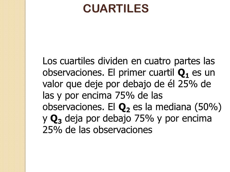 Media, mediana y moda La media, la mediana y la moda son idénticas en una distribución simétrica La mediana puede ser la idónea en distribuciones sesg
