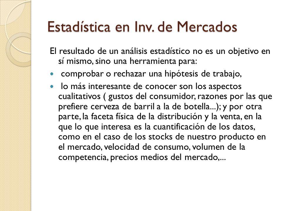 Estadística en Inv.