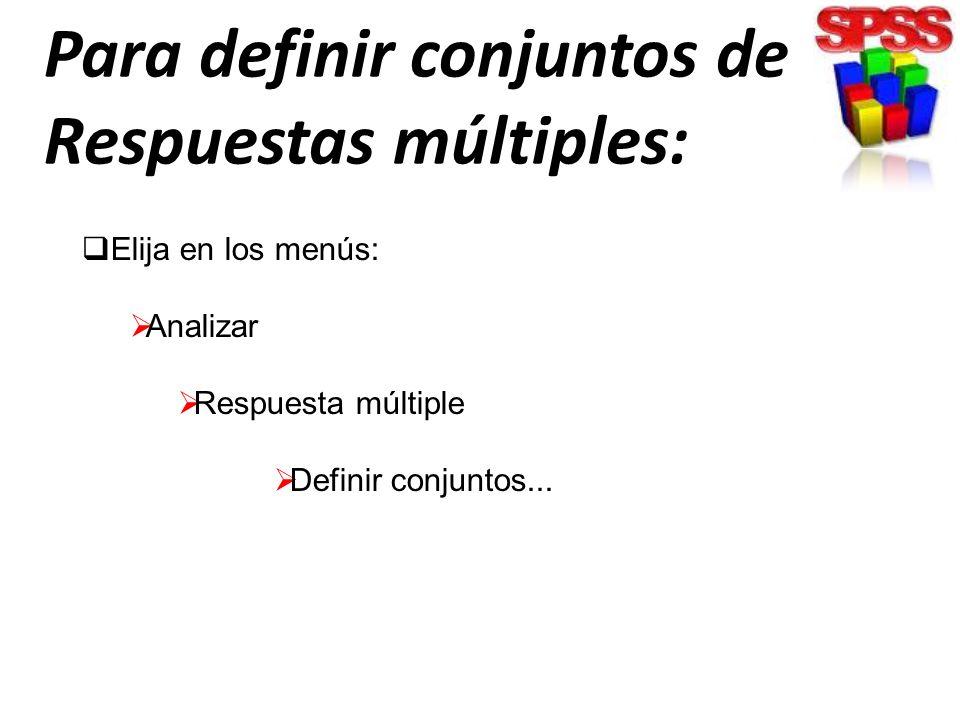 Los rangos de valores deben definirse para cualquier variable elemental de la tabla de contingencia.
