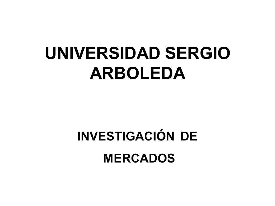UNIVERSIDAD SERGIO ARBOLEDA INVESTIGACIÓN DE MERCADOS