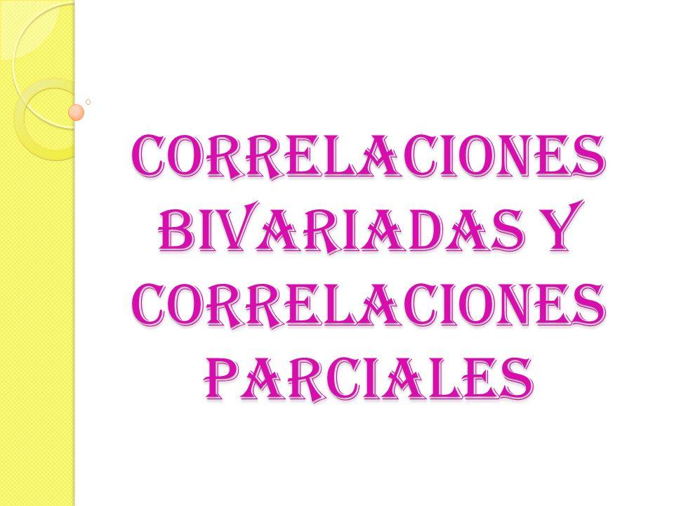 CORRELACIONES BIVARIADAS El procedimiento Correlaciones bivariadas ofrece tres tipos de coeficientes: r xy de Pearson, tau-b de Kendall y rho de Spearman.