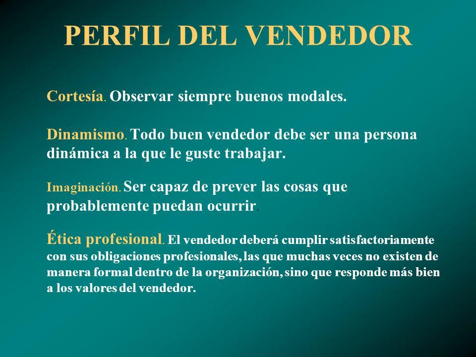 PERFIL DEL VENDEDOR Ambición.