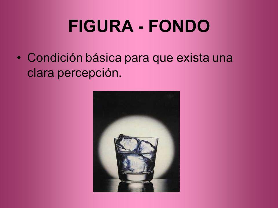 FIGURA - FONDO Condición básica para que exista una clara percepción.