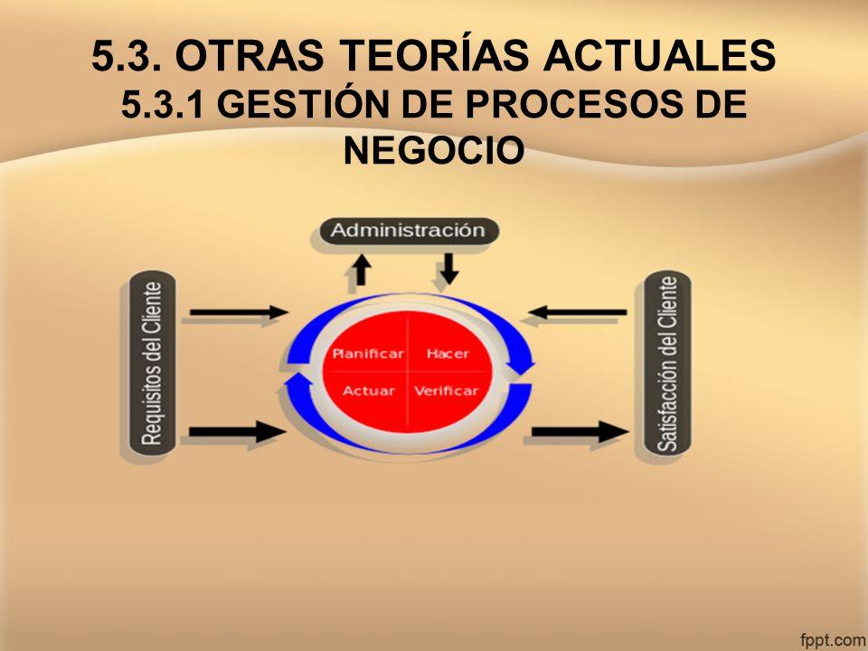 5.3. OTRAS TEORÍAS ACTUALES 5.3.1 GESTIÓN DE PROCESOS DE NEGOCIO