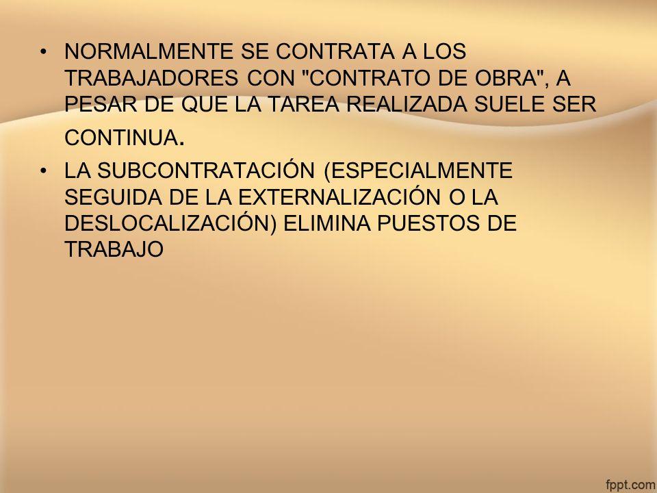 NORMALMENTE SE CONTRATA A LOS TRABAJADORES CON
