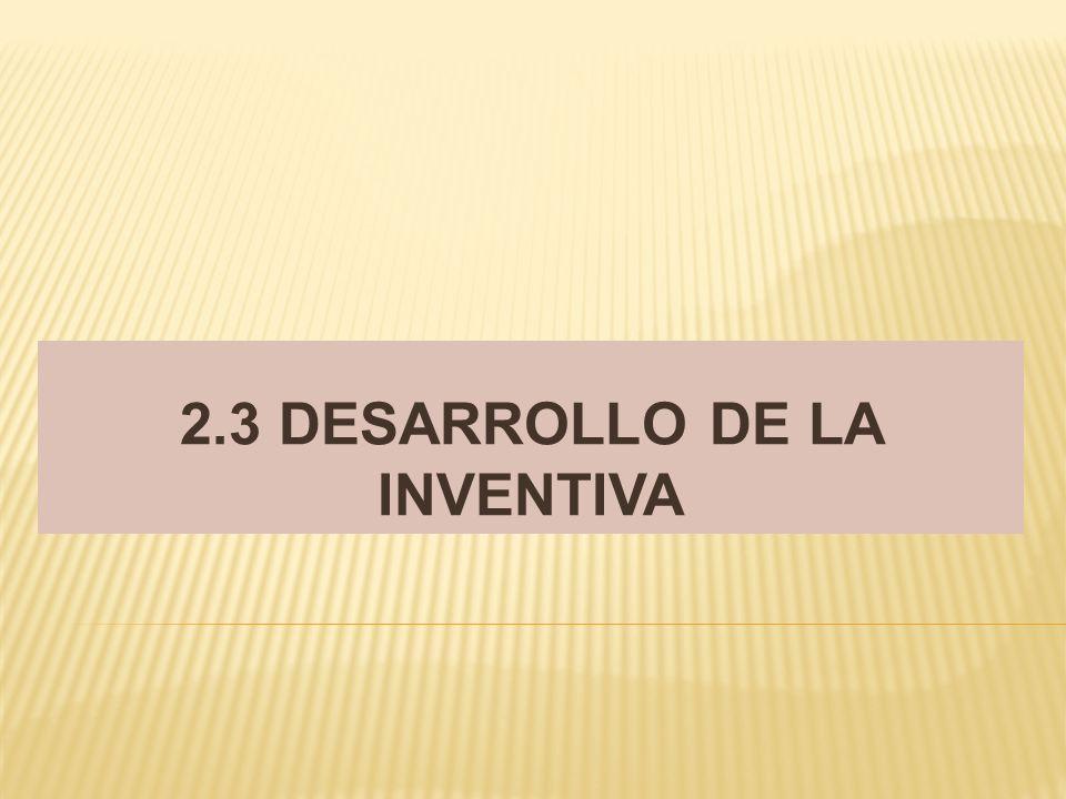 2.3 DESARROLLO DE LA INVENTIVA