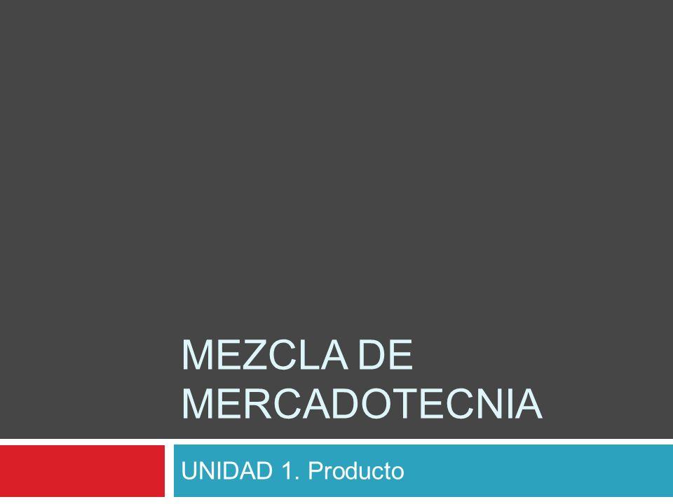 MEZCLA DE MERCADOTECNIA UNIDAD 1. Producto