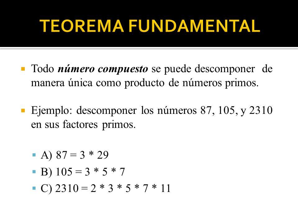 El máximo común divisor (m.c.