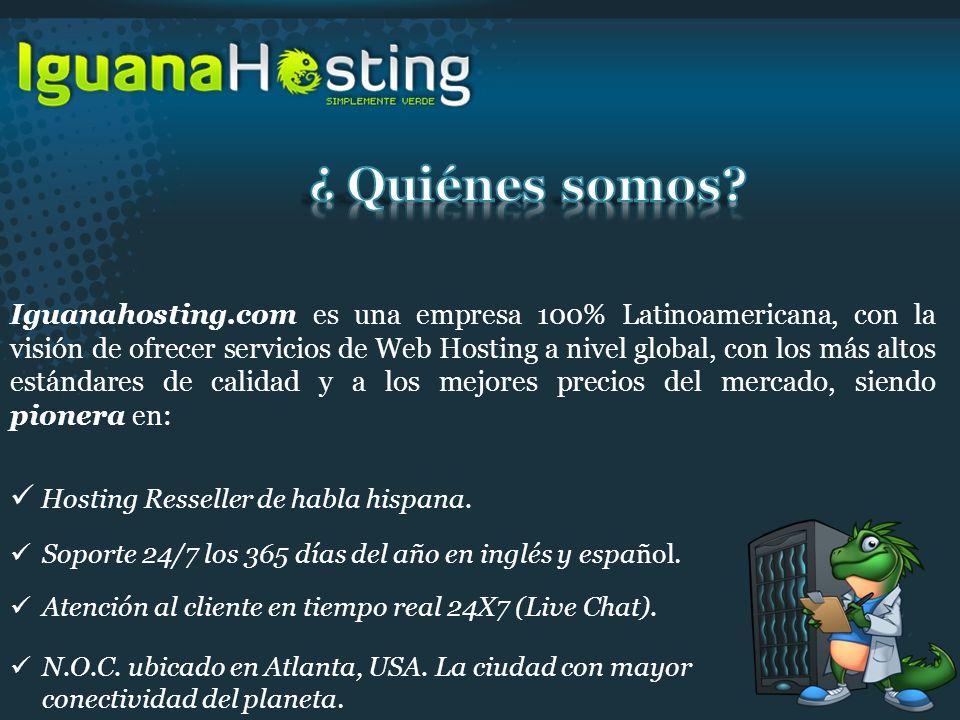 Iguanahosting.com es una empresa 100% Latinoamericana, con la visión de ofrecer servicios de Web Hosting a nivel global, con los más altos estándares