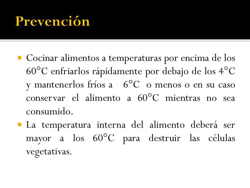 Cocinar alimentos a temperaturas por encima de los 60°C enfriarlos rápidamente por debajo de los 4°C y mantenerlos fríos a 6°C o menos o en su caso co