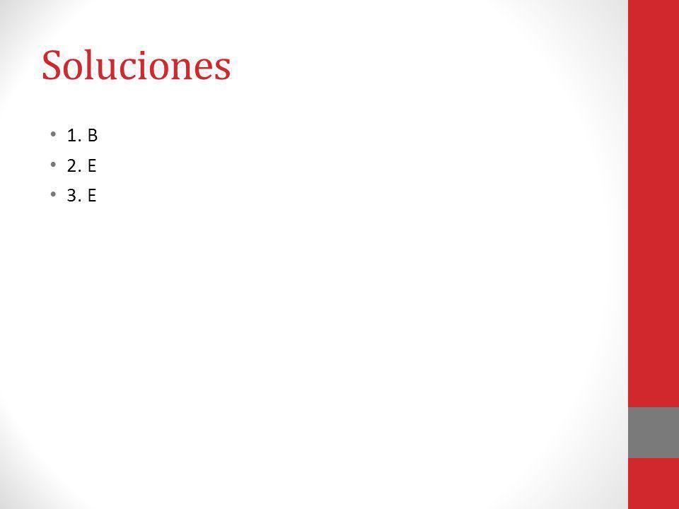 Soluciones 1. B 2. E 3. E
