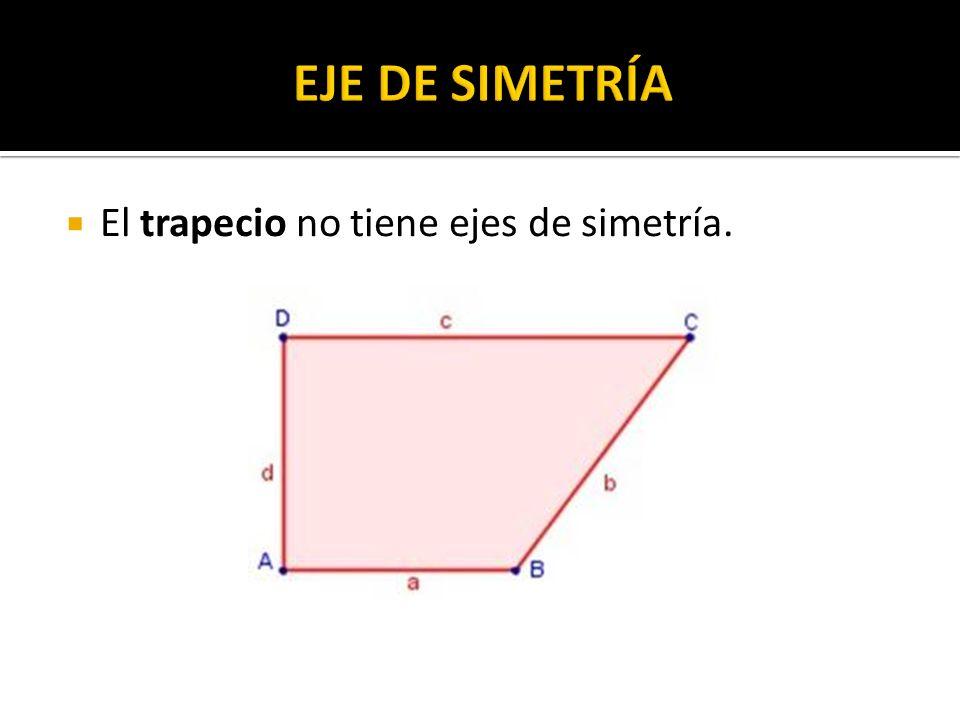 El trapecio no tiene ejes de simetría.