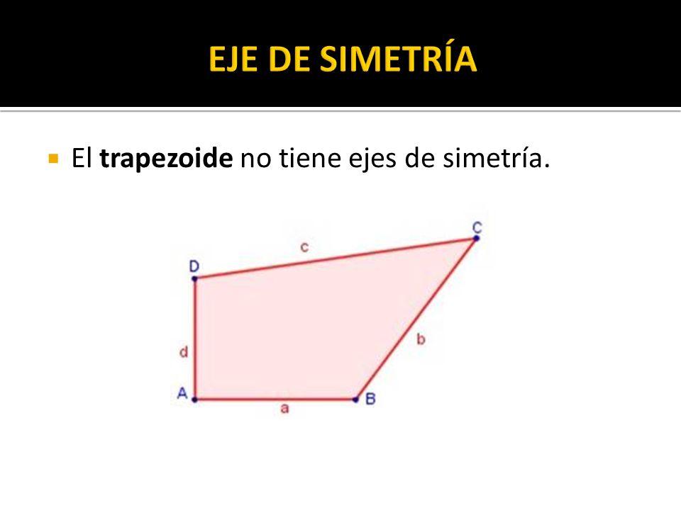 El trapezoide no tiene ejes de simetría.