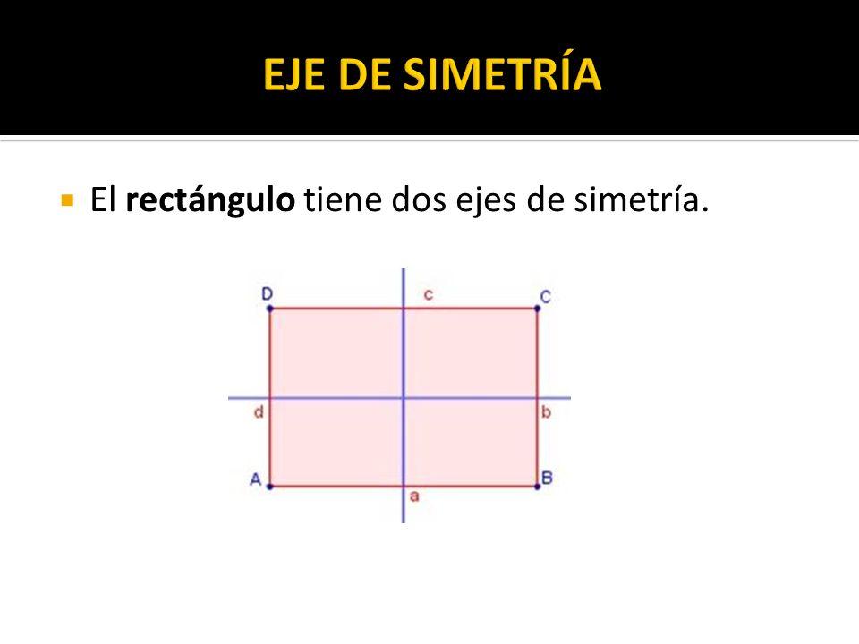 El rectángulo tiene dos ejes de simetría.