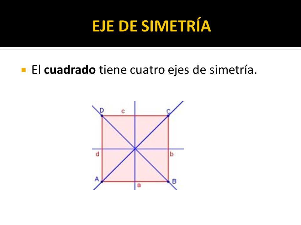 El cuadrado tiene cuatro ejes de simetría.