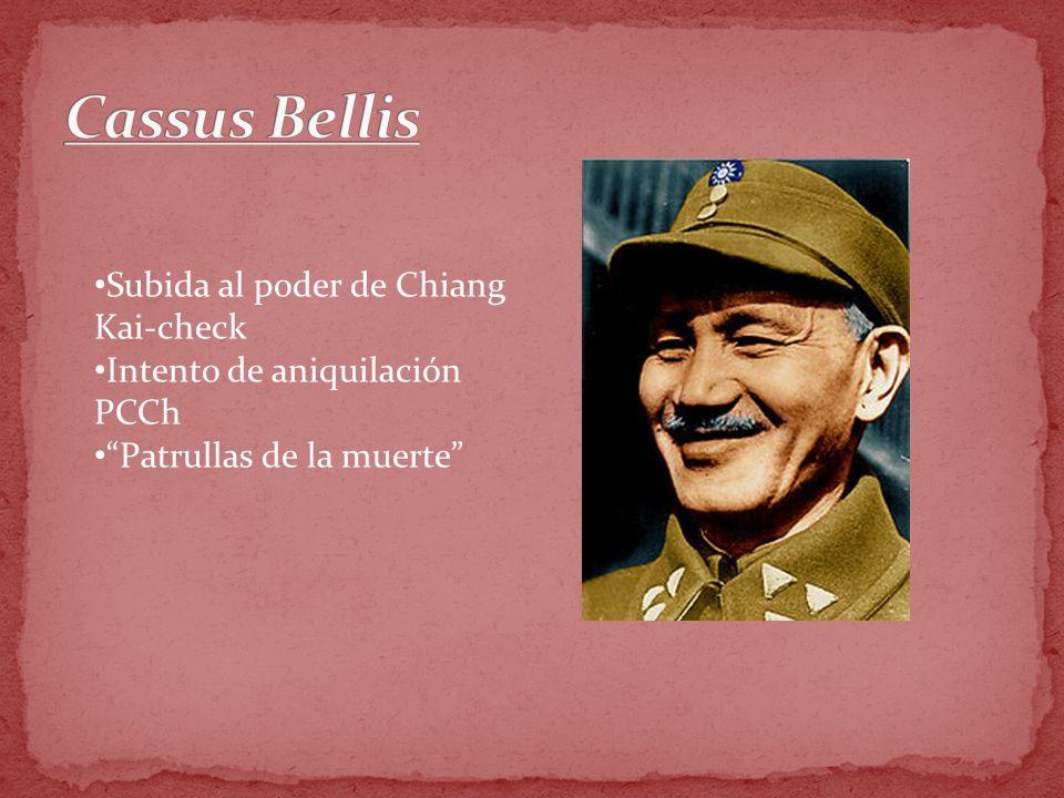Subida al poder de Chiang Kai-check Intento de aniquilación PCCh Patrullas de la muerte