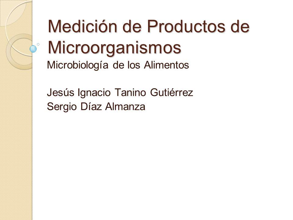 Medición de Productos de Microorganismos Microbiología de los Alimentos Jesús Ignacio Tanino Gutiérrez Sergio Díaz Almanza
