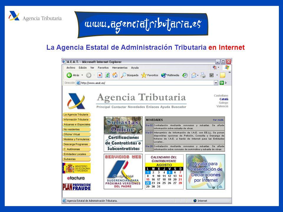 La Agencia Estatal de Administración Tributaria en Internet