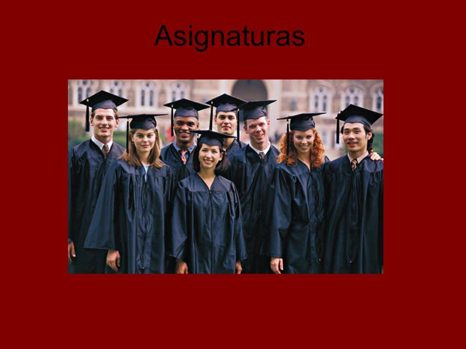Asignaturas, Primer Curso CÓDIGO ASIGNATURAS ÁLGEBRA LINEAL CÁLCULO INFINITESIMAL FÍSICA QUÍMICA DIBUJO TÉCNICO