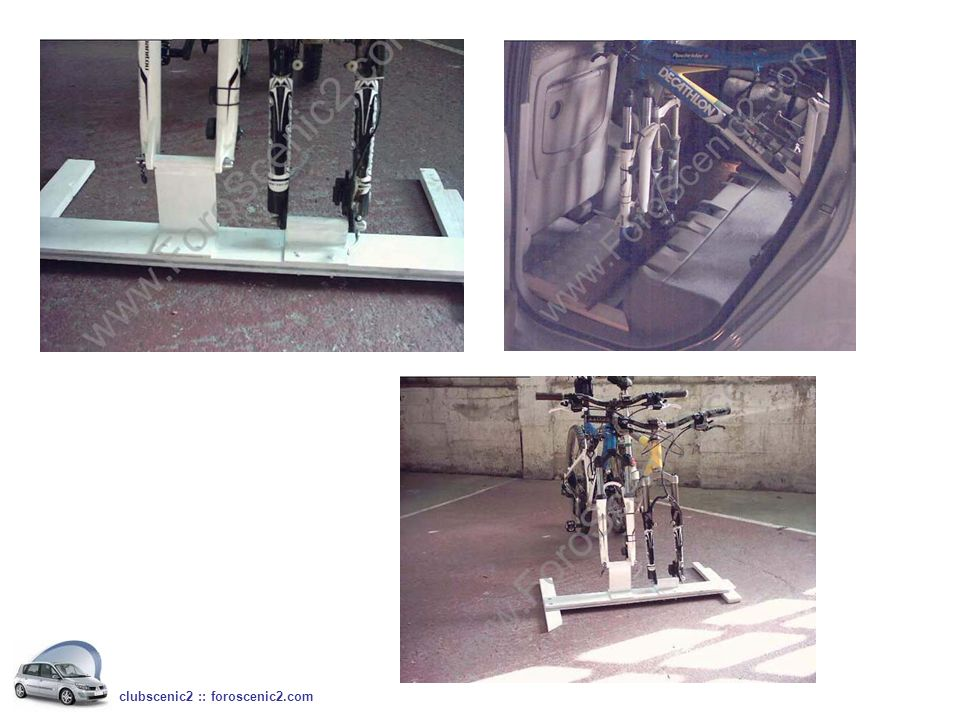 La diferencia de altura entre uno y otro soporte sirve para disminuir la separación entre las dos bicis al poder poner un manillar encima de otro clubscenic2 :: foroscenic2.com