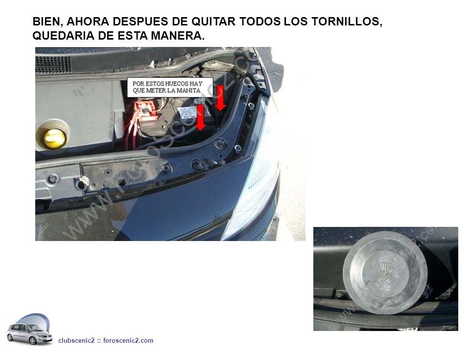 BIEN, AHORA DESPUES DE QUITAR TODOS LOS TORNILLOS, QUEDARIA DE ESTA MANERA. clubscenic2 :: foroscenic2.com