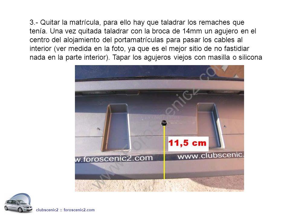 4º.- Colocar el accesorio de goma que viene en el kit, para pasar los cables al interior del portón.