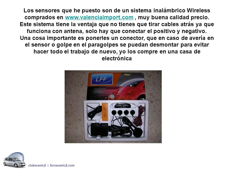 Los sensores que he puesto son de un sistema inalámbrico Wireless comprados en www.valenciaimport.com, muy buena calidad precio.www.valenciaimport.com