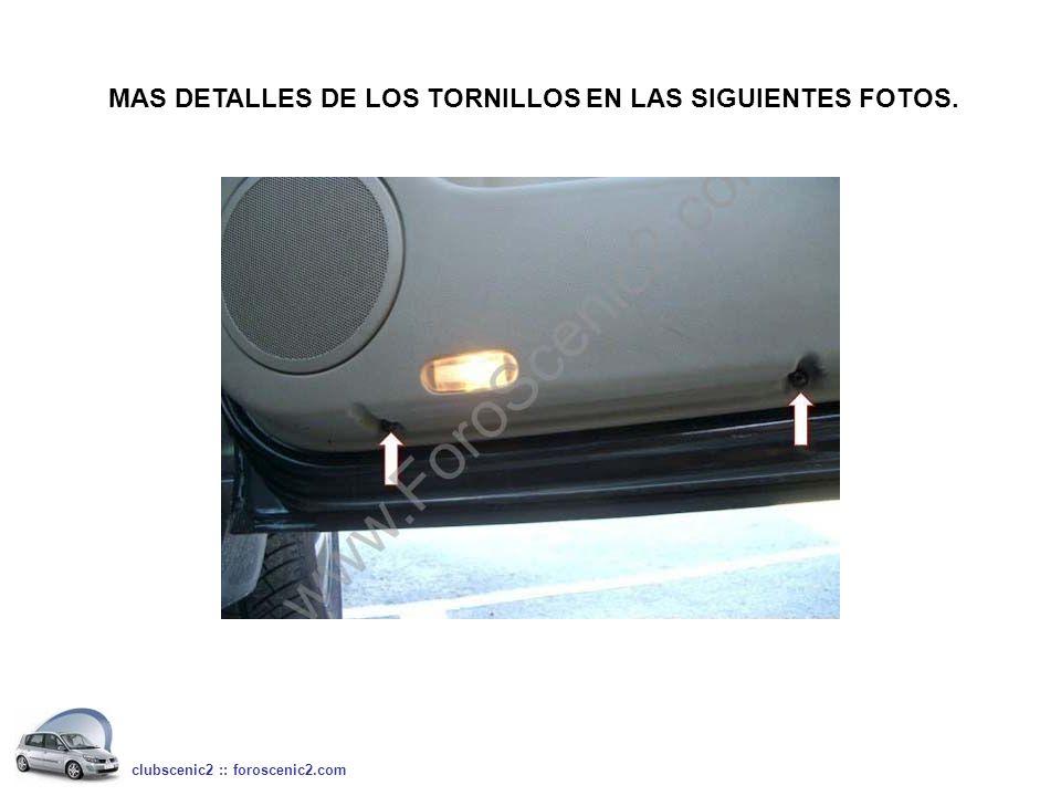 MAS DETALLES DE LOS TORNILLOS EN LAS SIGUIENTES FOTOS. clubscenic2 :: foroscenic2.com
