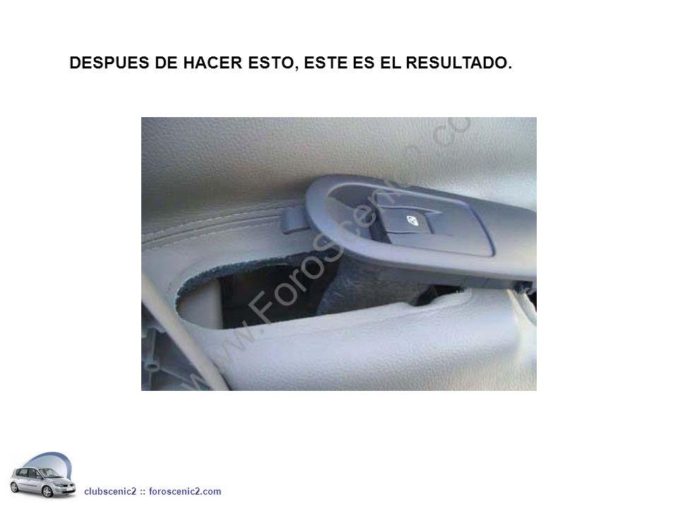 DESPUES DE HACER ESTO, ESTE ES EL RESULTADO. clubscenic2 :: foroscenic2.com