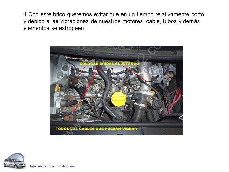1-Con este brico queremos evitar que en un tiempo relativamente corto y debido a las vibraciones de nuestros motores, cable, tubos y demás elementos se estropeen.