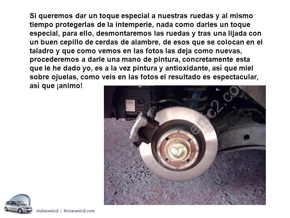Si queremos dar un toque especial a nuestras ruedas y al mismo tiempo protegerlas de la intemperie, nada como darles un toque especial, para ello, des