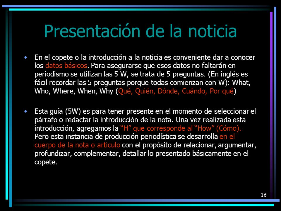 17 Orden/Disposición de las noticias El orden o la disposición de las noticias online no debe ser azaroso.