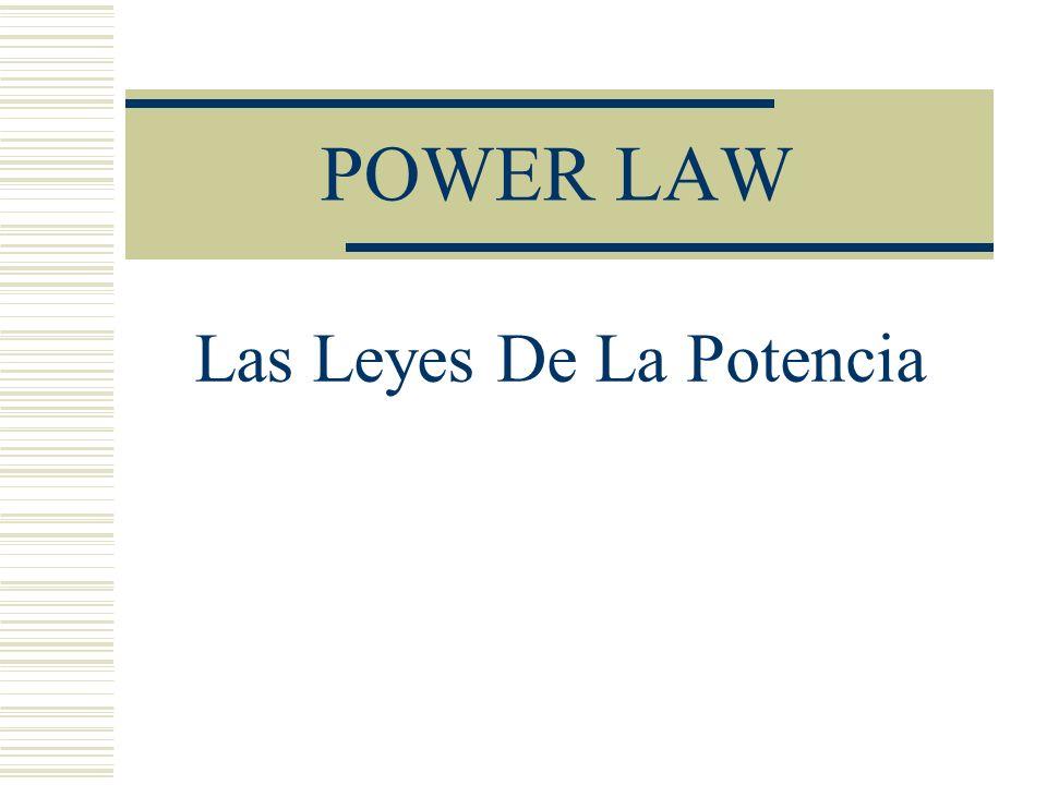 POWER LAW Las Leyes De La Potencia